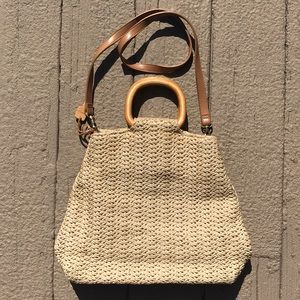 Fossil straw purse
